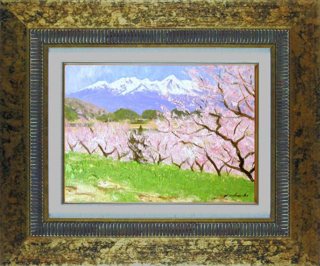 足立一夫「八ヶ岳の春」1