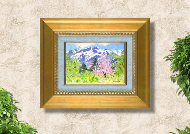 足立一夫「八ヶ岳の春」28c