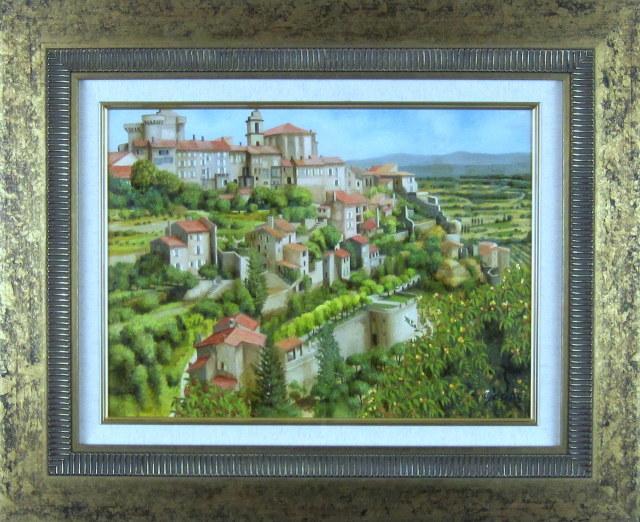 ヨーロッパ風景・志村好子 「GORODES」 油彩 F8 :外寸554×676mm