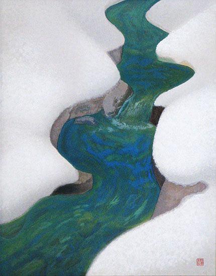 東山魁夷 「季の詩 一月」関連画像